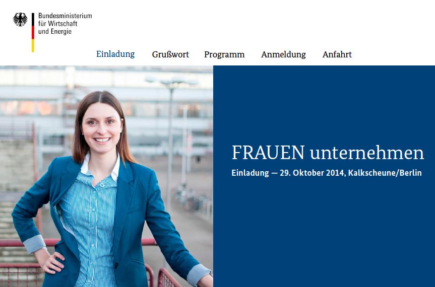 """Vorbild-Unternehmerin für das BMWI-Projekt """"FRAUEN unternehmen"""""""